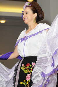 A dancer helps OCC celebrate Hispanic heritage at an HOLA-sponsored event in 2008.