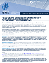 Minority Depository Institution Pledge
