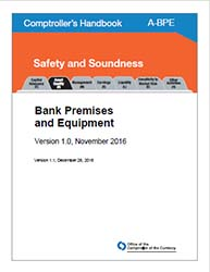 Comptroller's Handbook: Bank Premises and Equipment Cover Image