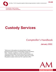 Comptroller's Handbook: Custody Services Cover Image