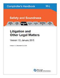 Comptroller's Handbook: Litigation and Other Legal Matters Cover Image
