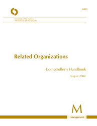 Comptroller's Handbook: Related Organizations Cover Image