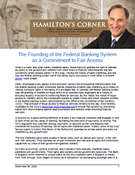 Hamilton's Corner Cover Image: The Founding of the Federal Banking System as a Commitment to Fair Access